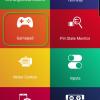 Obr. 30: Dabble: Aplikace po spuštění – vybereme si Gamepad