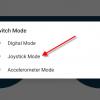 Obr. 31: Dabble: V rámci Gamepadu přepneme na mód Joystick