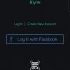 Obr. 32: Blynk app: Vytvoření nového účtu
