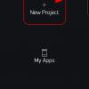 Obr. 33: Blynk app: Založení nového projektu (aplikace)