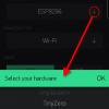 Obr. 34: Blynk app: Pojmenování projektu a výběr HW, v našem případě Wemos D1 mini