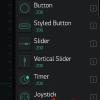 """Obr. 48: Blynk app: Použitím widgetů spotřebováváme """"energii"""" (E) a některé prvky pak mohou být zablokované (hodnota E u widgetu je červeně)"""