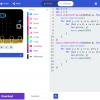Obr. 9: JavaScriptová podoba programu v MakeCode Editoru