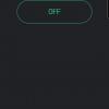 Obr. 100: Blynk app: Druhá záložka obsahuje pouze tlačítko pro zapnutí/vypnutí LED