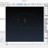 """Obr. 16: CAMotics – Průběh simulace kódu pro kresbu """"netradičního"""" iglú"""