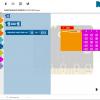 Obr. 19: Základní úroveň matematických příkazů v blokovém prostředí Open Roberta Lab