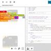 Obr. 20: Zobrazení výpisu programu v Pythonu v Open Roberta Lab