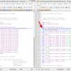 Obr. 27: Inkscape – GcodeTools, porovnání kódu s pozměněným parametrem Minimum Arc Radius (vlevo 1000, vpravo 5), G-kód vpravo obsahuje oblouky G02