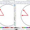 Obr. 29: Inkscape – Výsledek převodu Beziérových křivek na lineární segmenty pomocí Flatten Beziere (kružnice)