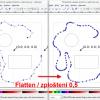 Obr. 30: Inkscape – Výsledek převodu Beziérových křivek na lineární segmenty pomocí Flatten Beziere (rukou kreslená čára)