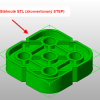 Výsledek konverze STEP do STL v aplikaci Netfabb