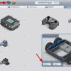 """Modkit – pohled """"Robot"""" a skládání komponent na pracovní plochu"""